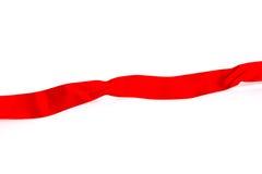Красное ribon на белой предпосылке Стоковое Изображение RF