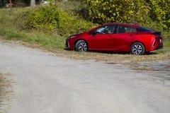 Красное Sportscar обочиной Стоковое Изображение RF