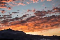 Красное sunriise Стоковые Изображения