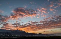 Красное sunriise Стоковая Фотография