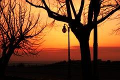 Красное sunser Стоковое Изображение RF