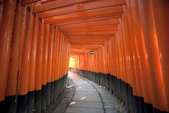 Красное Torii стробирует японию Стоковое Изображение