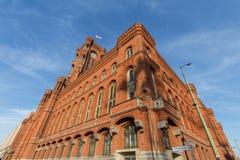 Красное townhall Берлин Германия Стоковые Изображения