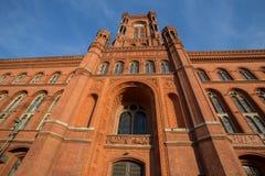 Красное townhall Берлин Германия Стоковое Фото