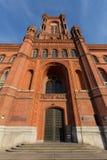Красное townhall Берлин Германия Стоковое Изображение RF