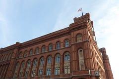 Красное townhall Берлин Германия Стоковые Фотографии RF