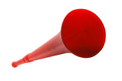 красное vuvuzela Стоковое Изображение