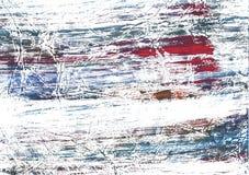 Красной покрашенная синью бумага акварели Стоковые Фотографии RF