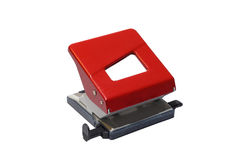 Красной предпосылка штамповщика изолированная белизной Стоковое Изображение