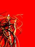 Красной черной желтой абстрактное искусство покрашенное белизной Справочная информация Стоковое Изображение RF