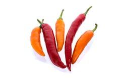Краснокалильные перцы chili Стоковая Фотография