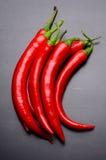 Краснокалильные перцы chili Стоковое Изображение