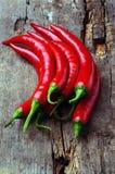 Краснокалильные перцы chili Стоковое Фото