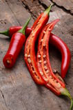 Краснокалильные перцы chili Стоковые Изображения RF