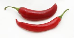 Краснокалильные перцы chili Стоковые Фотографии RF