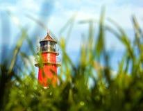 Красно-белый маяк Стоковое Фото
