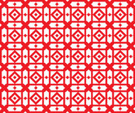 Красно-геометрическ-картина, - безшовная Стоковая Фотография