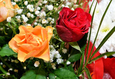 Красно- оранжевый букет Стоковые Фотографии RF