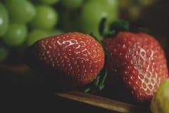 Красно- очень вкусные клубники Стоковые Фото