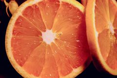 Красно- очень вкусный грейпфрут Стоковые Фотографии RF