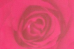 Красно-розовая розовая кожаная текстура, предпосылка цветка для валентинки f Стоковые Изображения