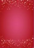 Красно-сердц-влюбленност-предпосылка Стоковые Фото