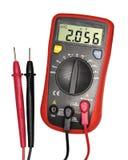 Красно-черный цифровой вольтамперомметр Стоковое Изображение