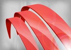 Красные абстрактные кривые Стоковое Изображение