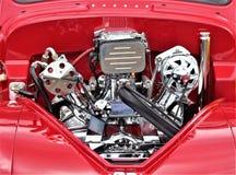 Красные автомобиль и двигатель Стоковые Изображения