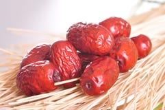 Красные дат-сухие плодоовощи стоковое фото rf