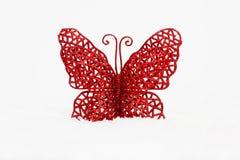 Красные бабочки на белой предпосылке Стоковые Изображения RF