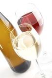 красные белые вина Стоковая Фотография RF