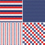 Красные белые голубые безшовные предпосылки Дня независимости Стоковая Фотография RF