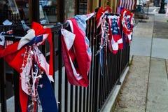 Красные белые голубые патриотические цвета Стоковая Фотография