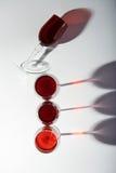 Красные бокалы Стоковая Фотография