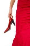 красные ботинки Стоковая Фотография