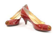 красные ботинки Стоковое Фото