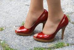 красные ботинки Стоковое Изображение