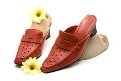 красные ботинки Стоковые Изображения
