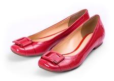 красные ботинки Стоковое фото RF