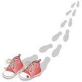 красные ботинки Стоковые Фотографии RF