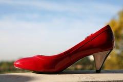 красные ботинки wedding Стоковые Фото