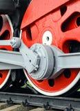 Красные большие колеса астрагала Стоковые Изображения