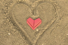 Красные бумажные сердца Стоковые Фото