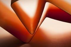 Красные бумажные формы Стоковые Фотографии RF