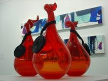 красные вазы Стоковая Фотография