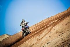 Красные ватт Bull 111 мега: Motocross и трудная гонка enduro Стоковое Изображение