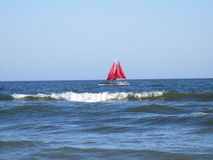 красные ветрила Стоковое Изображение