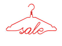 Красные вешалки одежд провода с сообщением - ПРОДАЖЕЙ бесплатная иллюстрация