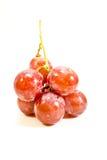 Красные виноградины, изолированные на белой предпосылке Стоковое Изображение